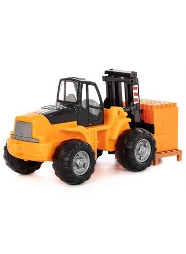 Polesie Polesie 36766 Oyuncak Paletli Forklift (30 Tasatım Parçalı Süper Mix) Turuncu Renkli